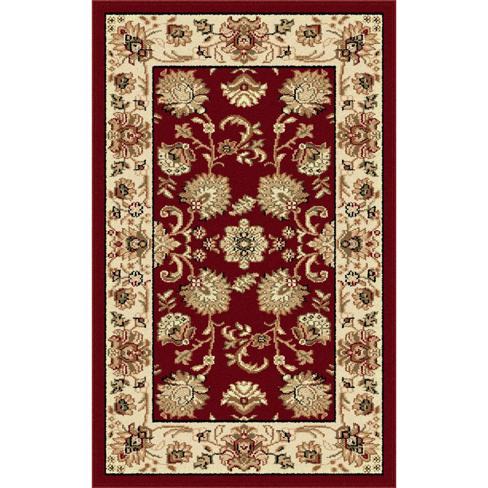 Tayse 4720  Red  2x3 Sensation Gabrielle Red 2 ft. x 3 ft. Traditional Area Rug