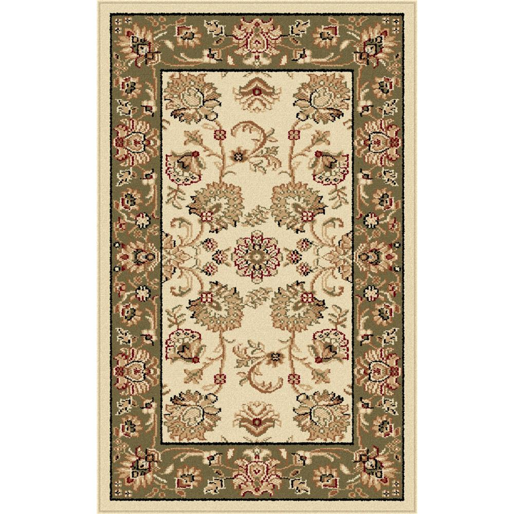 Tayse 4722  Ivory  2x3 Sensation Gabrielle Beige 2 ft. x 3 ft. Traditional Area Rug