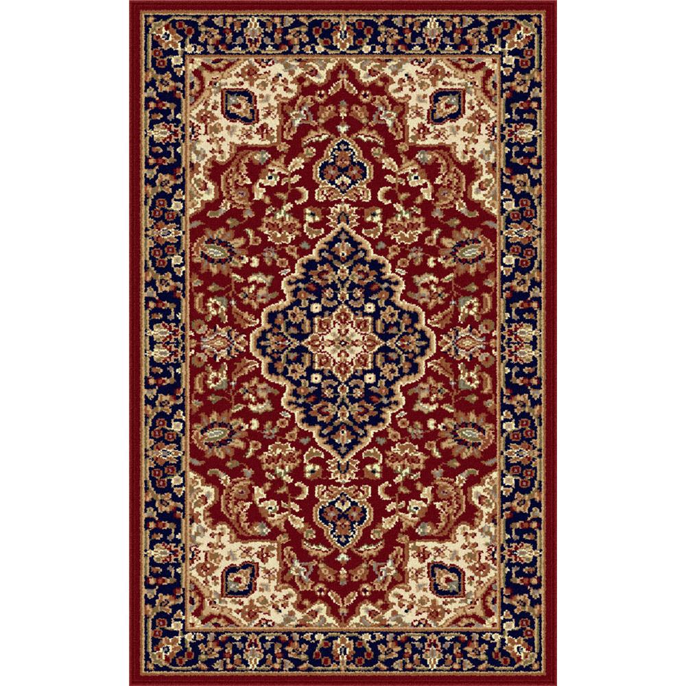 Tayse 4780  Red  2x3 Sensation Kirsten Red 2 ft. x 3 ft. Traditional Area Rug