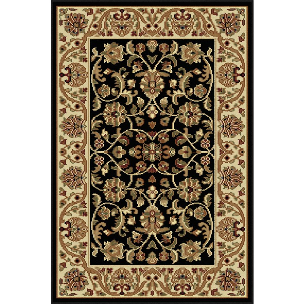 Tayse 4813  Black  2x3 Sensation Ventura Black 2 ft. x 3 ft. Transitional Area Rug