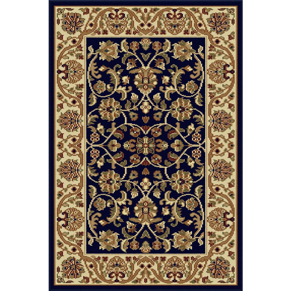 Tayse 4817  Navy  2x3 Sensation Ventura Navy Blue 2 ft. x 3 ft. Transitional Area Rug
