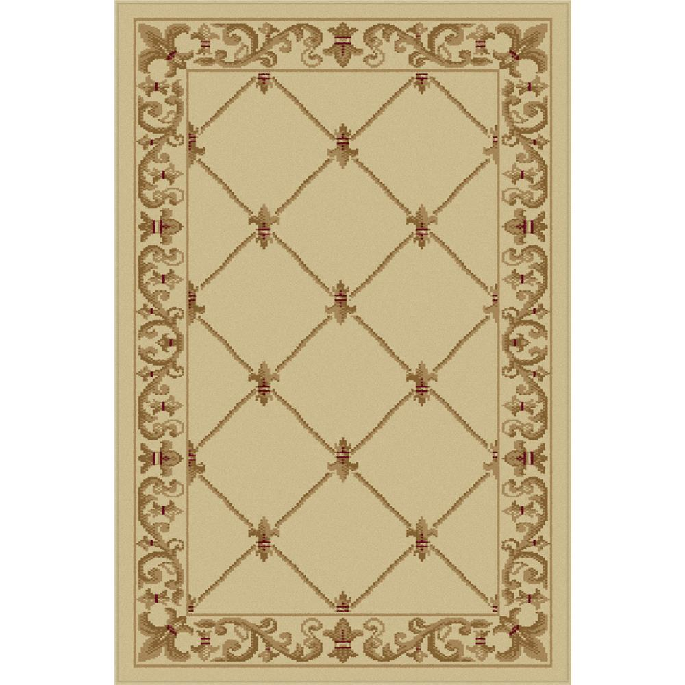 Tayse 4882  Ivory  2x3 Sensation Orleans Ivory 2 ft. x 3 ft. Traditional Area Rug