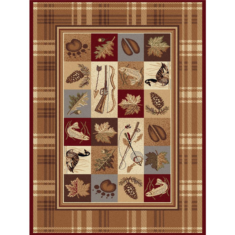 Tayse Nature 6510 Multi 3 ft. 11 in. x 5 ft. 3 in. Lodge Area Rug
