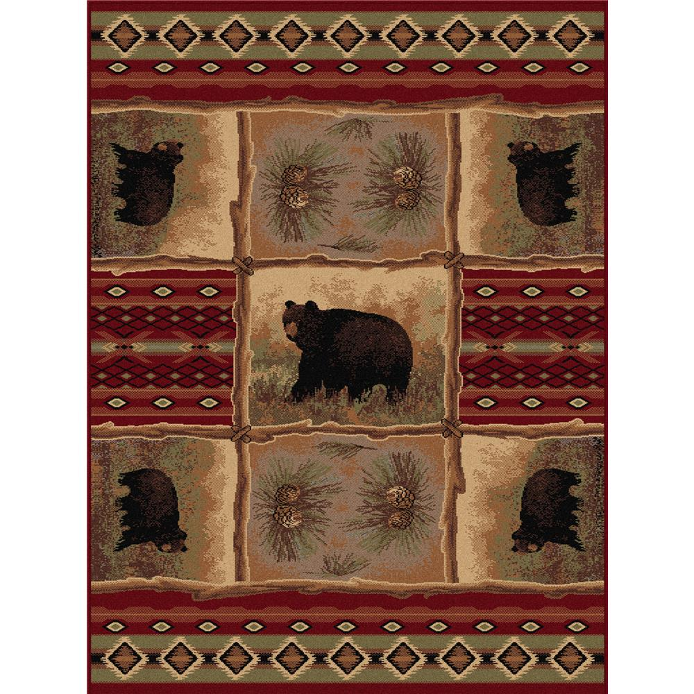 Tayse Nature 6570 Red 3 ft. 11 in. x 5 ft. 3 in. Lodge Area Rug