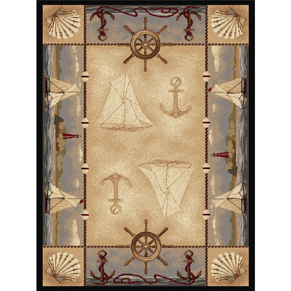 Tayse Nature 6582 Beige 3 ft. 11 in. x 5 ft. 3 in. Lodge Area Rug