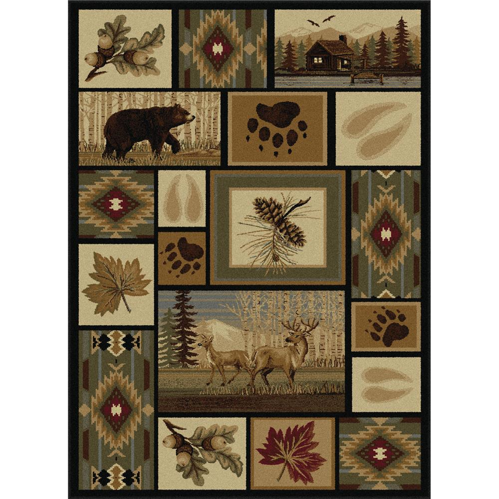Tayse Nature 6660 Multi 3 ft. 11 in. x 5 ft. 3 in. Lodge Area Rug