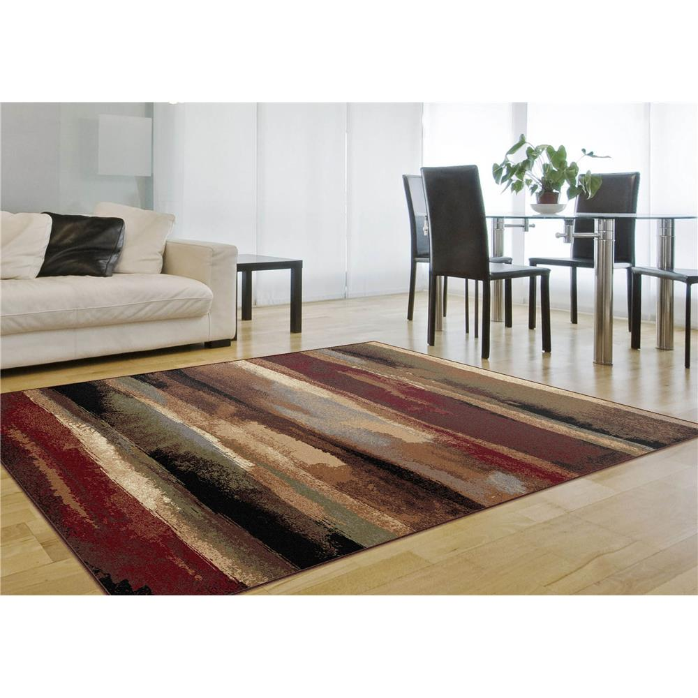 Tayse 8900  Multi  5x8 Festival Dakota Multi 5 ft. 3 in. x 7 ft. 3 in. Contemporary Area Rug