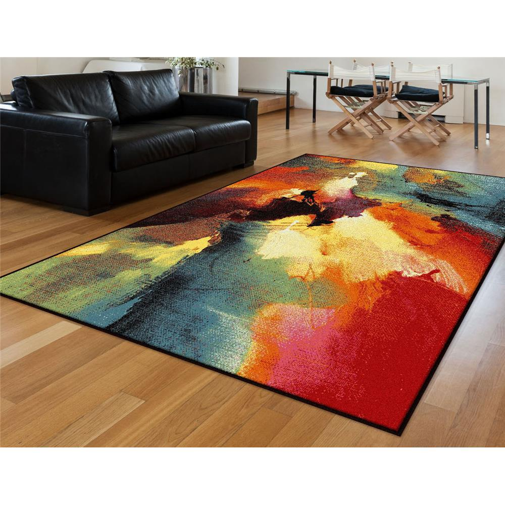 Tayse AVN1701 5x8 Avon Vida Multi 5 ft. 3 in. x 7 ft. 3 in. Contemporary Area Rug