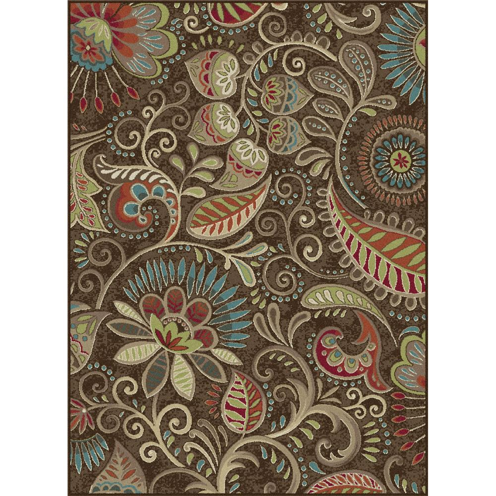 Tayse CPR1010 2x3 Capri Giselle Brown 2 ft. x 3 ft. Transitional Area Rug