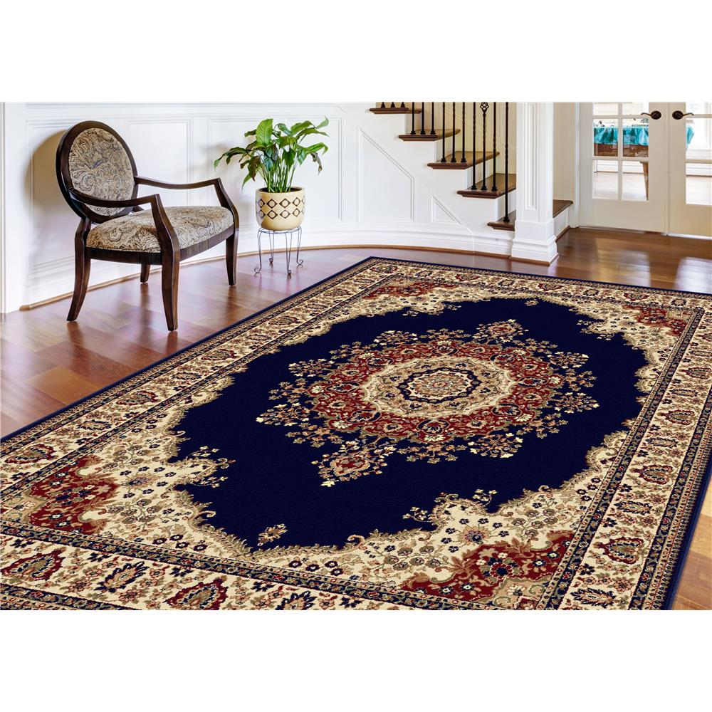 Tayse Rugs SNS4707 11x15 Fiona Rug in Navy, 10