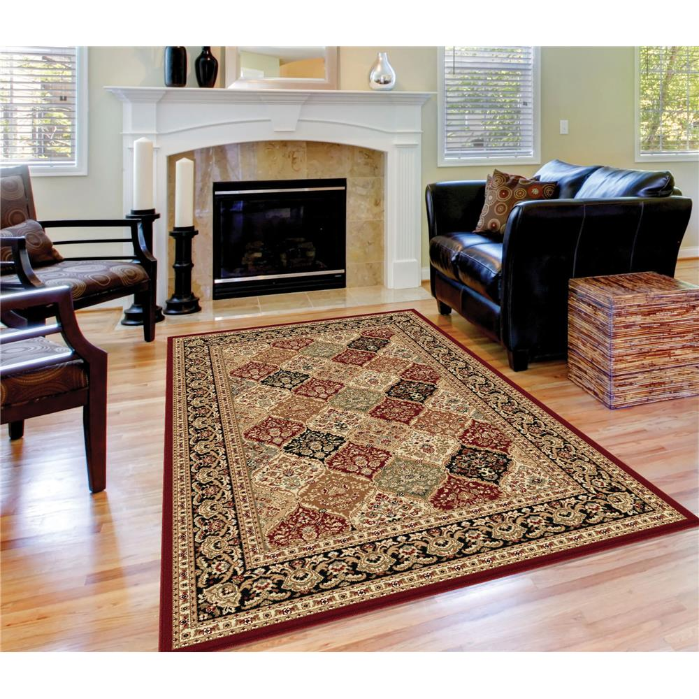 Tayse Rugs SNS4770 11x15 Princeton Rug in Red, 10