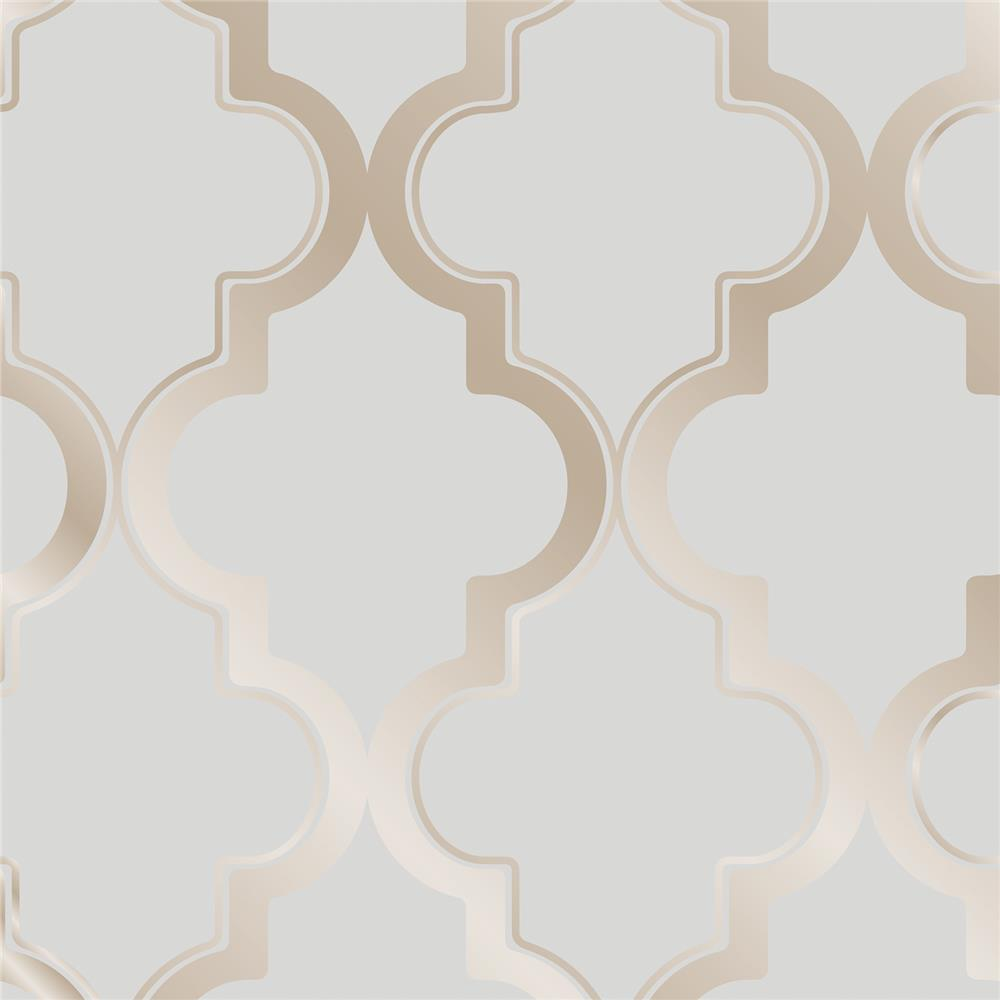 Tempaper MA083 Marrakesh Self-adhesive, Removable Wallpaper in Bronze Gray