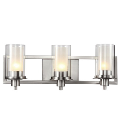 Trans Globe Lighting 20043 3 Light Bath Bar in Brushed Nickel