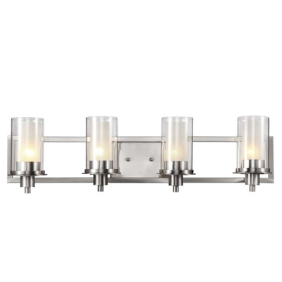 Trans Globe Lighting 20044 4 Light Bath Bar in Brushed Nickel
