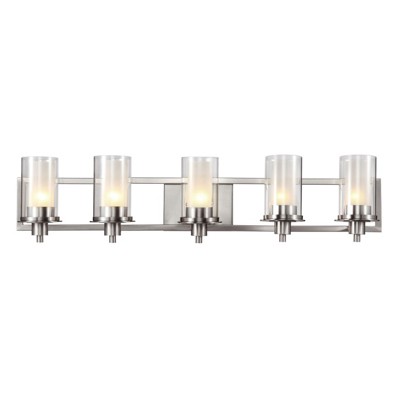 Trans Globe Lighting 20045 5 Light Bath Bar in Brushed Nickel