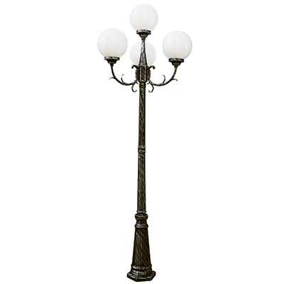 Trans Globe Lighting 4080 SWI 4 Light Pole Lantern in Swedish Iron