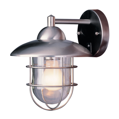 Trans Globe Lighting 4370 ST 1 Light Coach Lantern in Stainless Steel