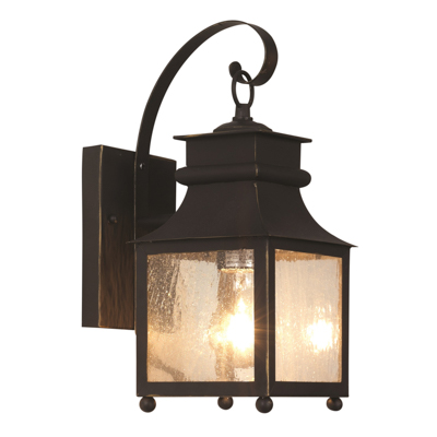 Trans Globe Lighting 45630 WB 1 Light Coach Lantern in Weathered Bronze