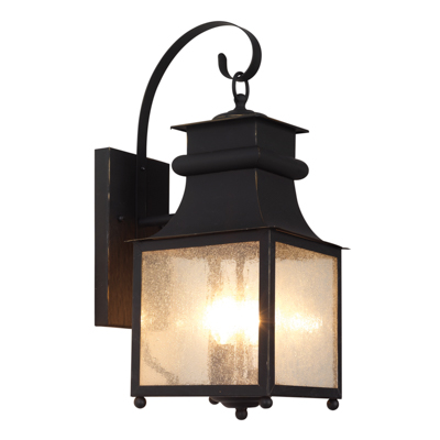 Trans Globe Lighting 45631 WB 2 Light Coach Lantern in Weathered Bronze