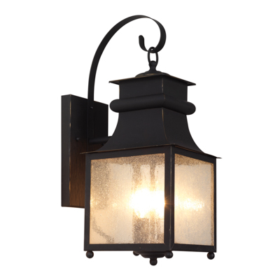 Trans Globe Lighting 45632 WB 3 Light Coach Lantern in Weathered Bronze
