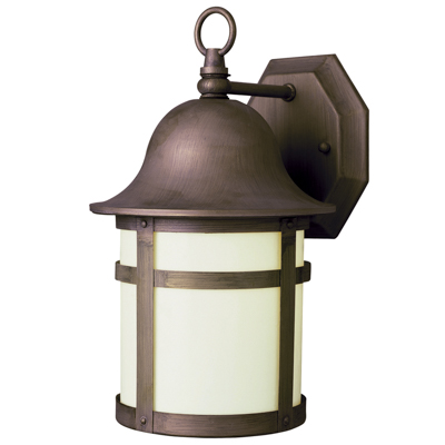 Trans Globe Lighting 4580 WB 1 Light Coach Lantern in Weathered Bronze