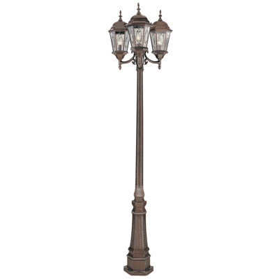 Trans Globe Lighting 4719 BRZ 3 Light Pole Lantern in Brown