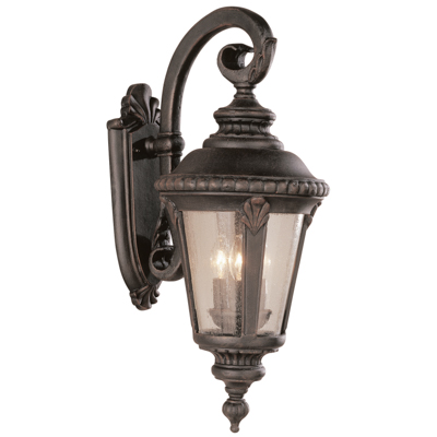 Trans Globe Lighting 5044 RT 3 Light Coach Lantern in Rust