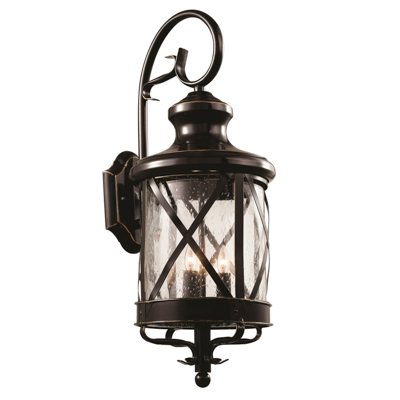 Trans Globe Lighting 5121 ROB 3 Light Coach Lantern in Rubbed Oil Bronze