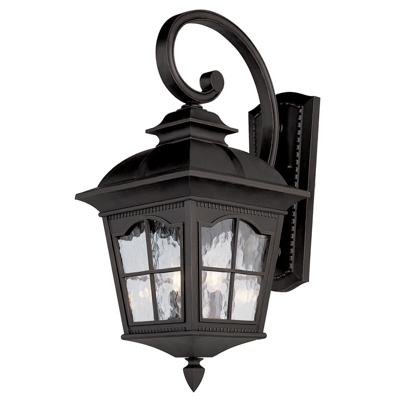 Trans Globe Lighting 5420 BK 3 Light Coach Lantern in Black