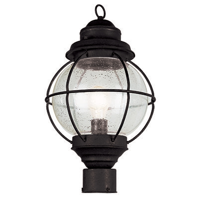 Trans Globe Lighting 69905 BK 1 Light Post Lantern in Black