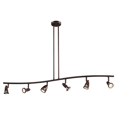 Trans Globe Lighting W-466-6 ROB 6 Light Track Light in Rubbed Oil Bronze