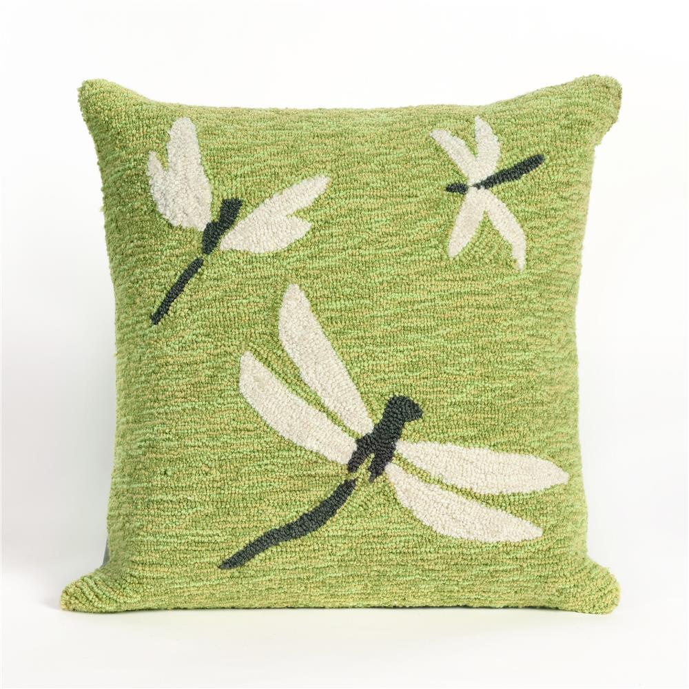 Liora Manne 7FP8S141506 FRONTPORCH DRAGONFLY GREEN Pillow