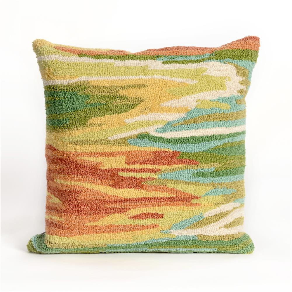 Liora Manne 7FP8S423706 FRONTPORCH WATERCOLOR GREEN Pillow