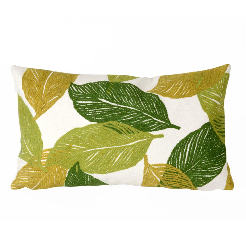 Liora Manne 7SA1S405106 VISIONS I MYSTIC LEAF GREEN Pillow