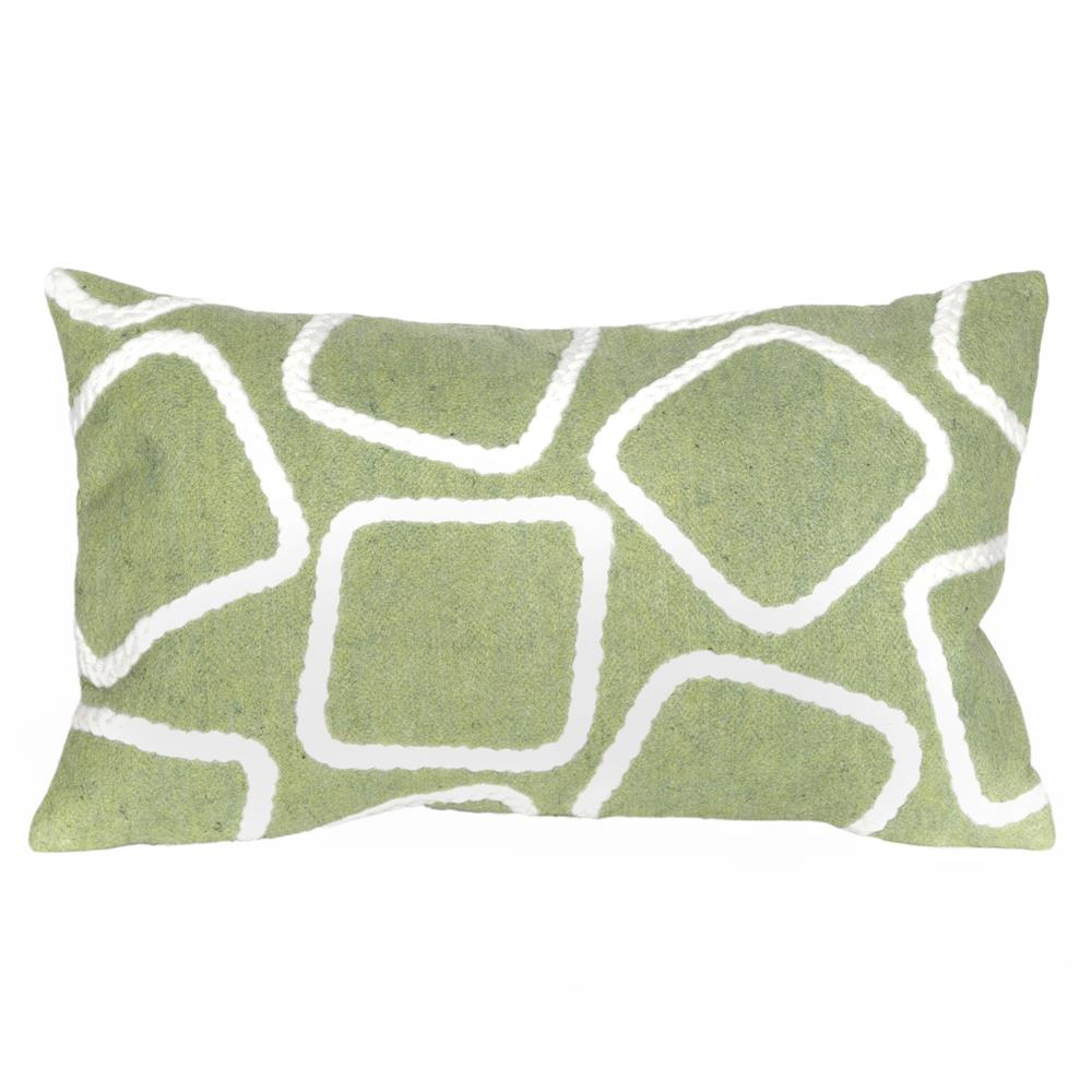 Liora Manne 7SA1S408716 VISIONS I SQUARES LIME Pillow