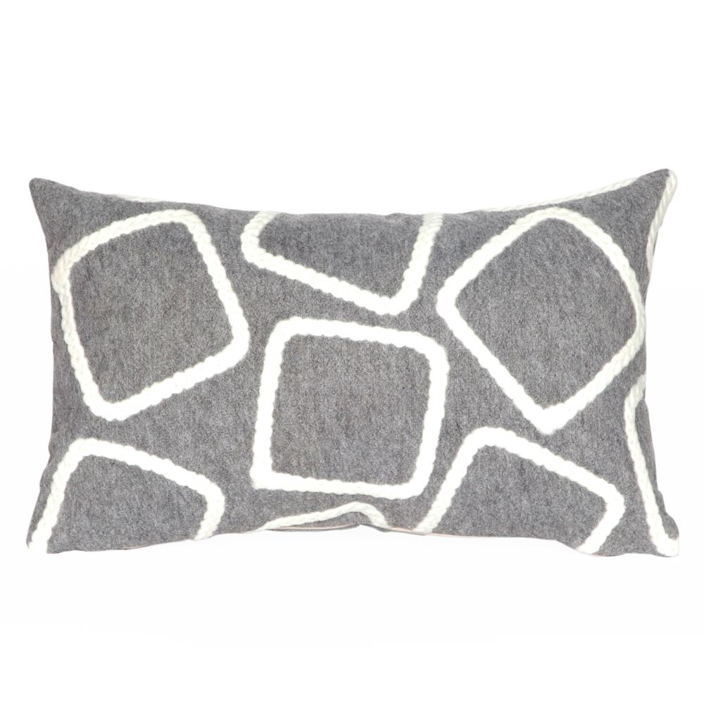 Liora Manne 7SA1S408738 VISIONS I SQUARES SILVER Pillow