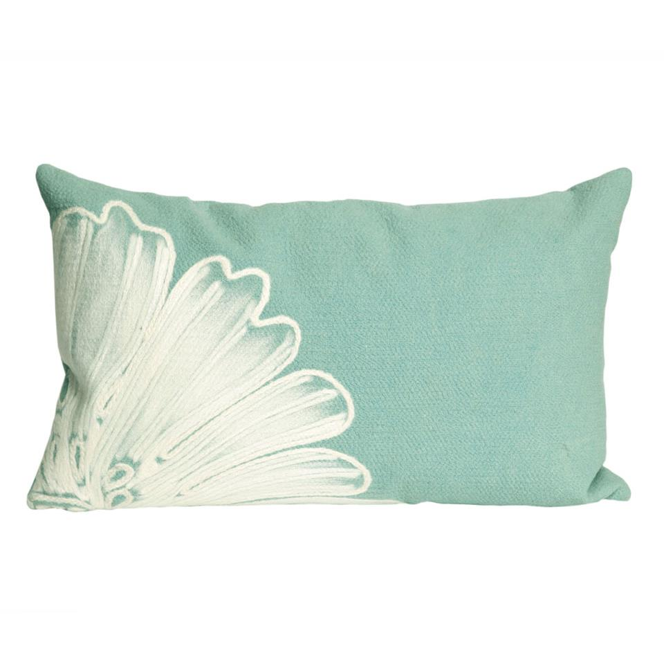 Liora Manne 7SB1S319004 VISIONS II ANTIQUE MEDALLION AQUA Pillow