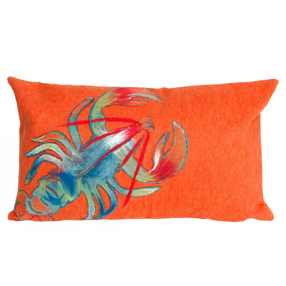 Liora Manne 7SB1S415317 VISIONS II LOBSTER ORANGE Pillow