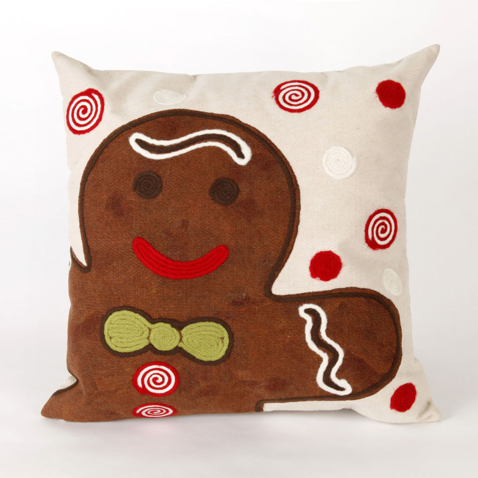 "Liora Manne 7SB2S420419 4204/19 Ginger Boy Chocolate 20"" Square Pillow"