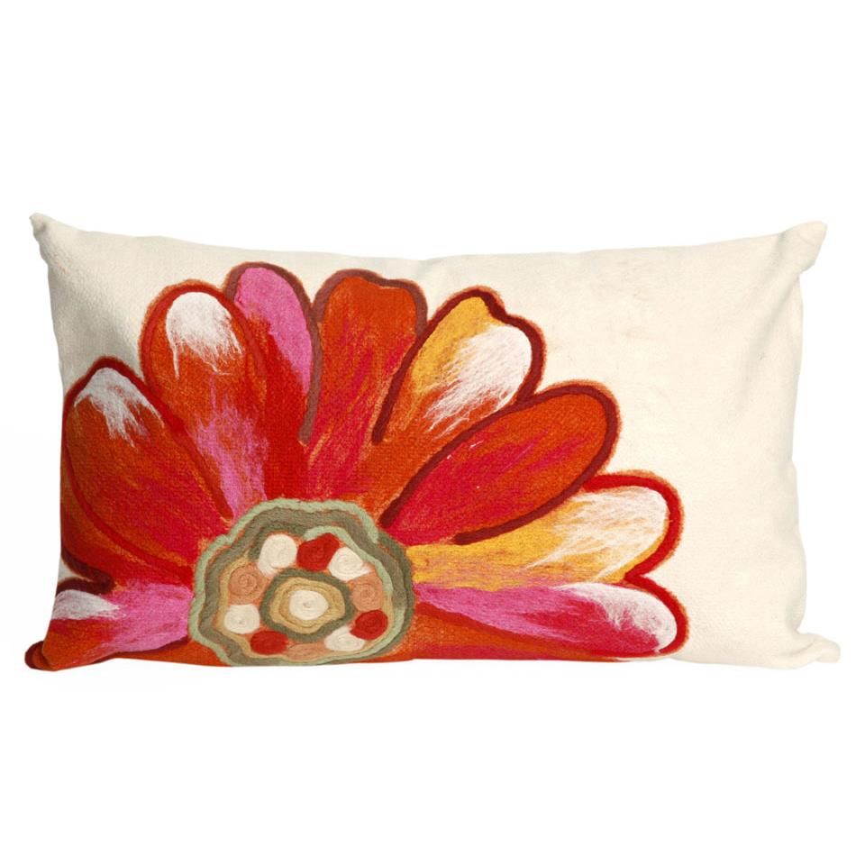 Liora Manne 7SC1S314917 VISIONS III DAISY ORANGE Pillow
