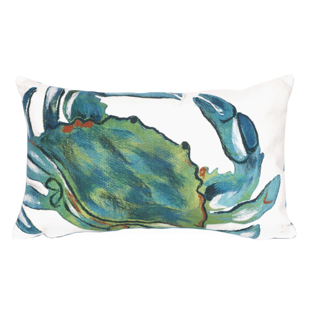 Liora Manne 7SC1S419103 VISIONS III BLUE CRAB SEA Pillow
