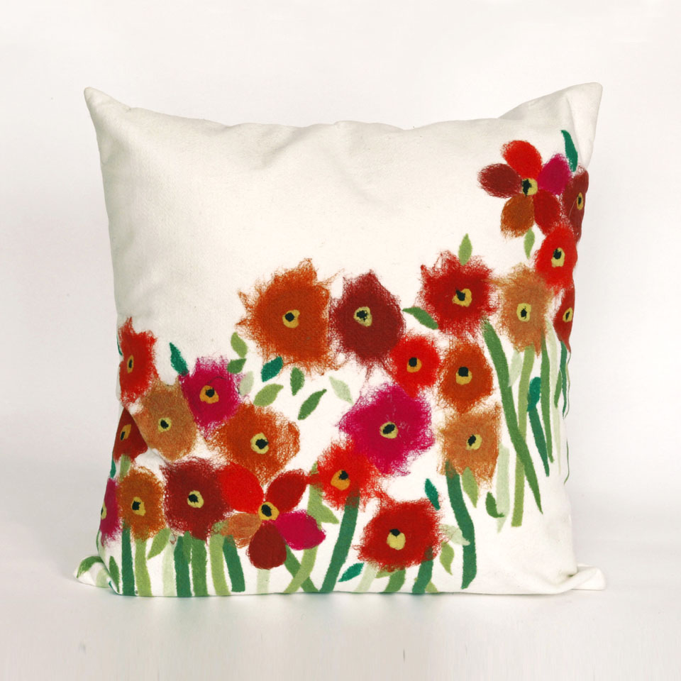 Liora Manne 7SC2S320924 VISIONS III POPPIES RED Pillow