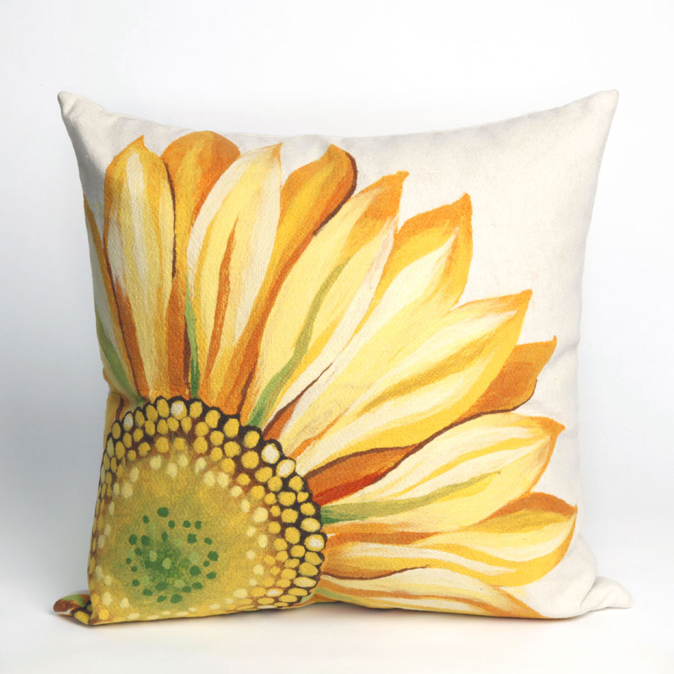 Liora Manne 7SC2S321609 VISIONS III SUNFLOWER YELLOW Pillow