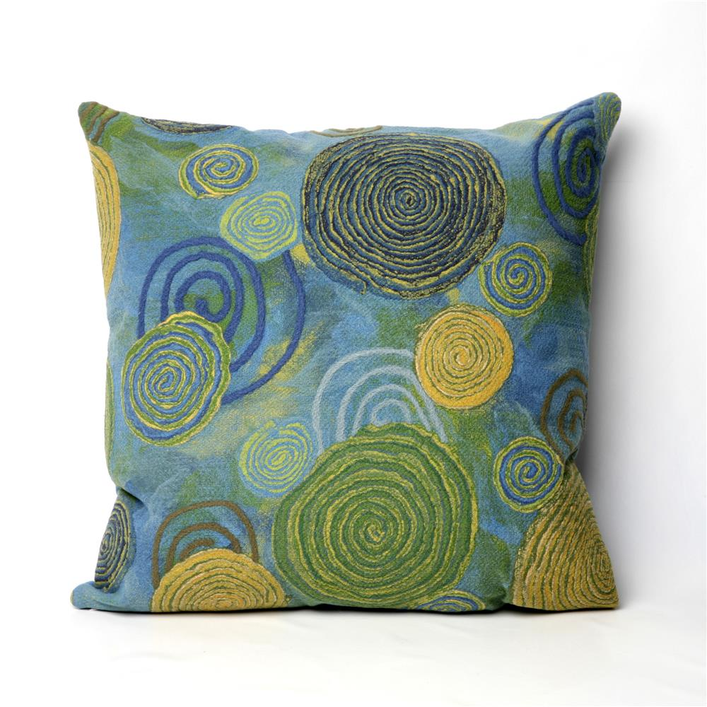 Liora Manne 7SC2S410906 VISIONS III GRAFFITI SWIRL COOL Pillow
