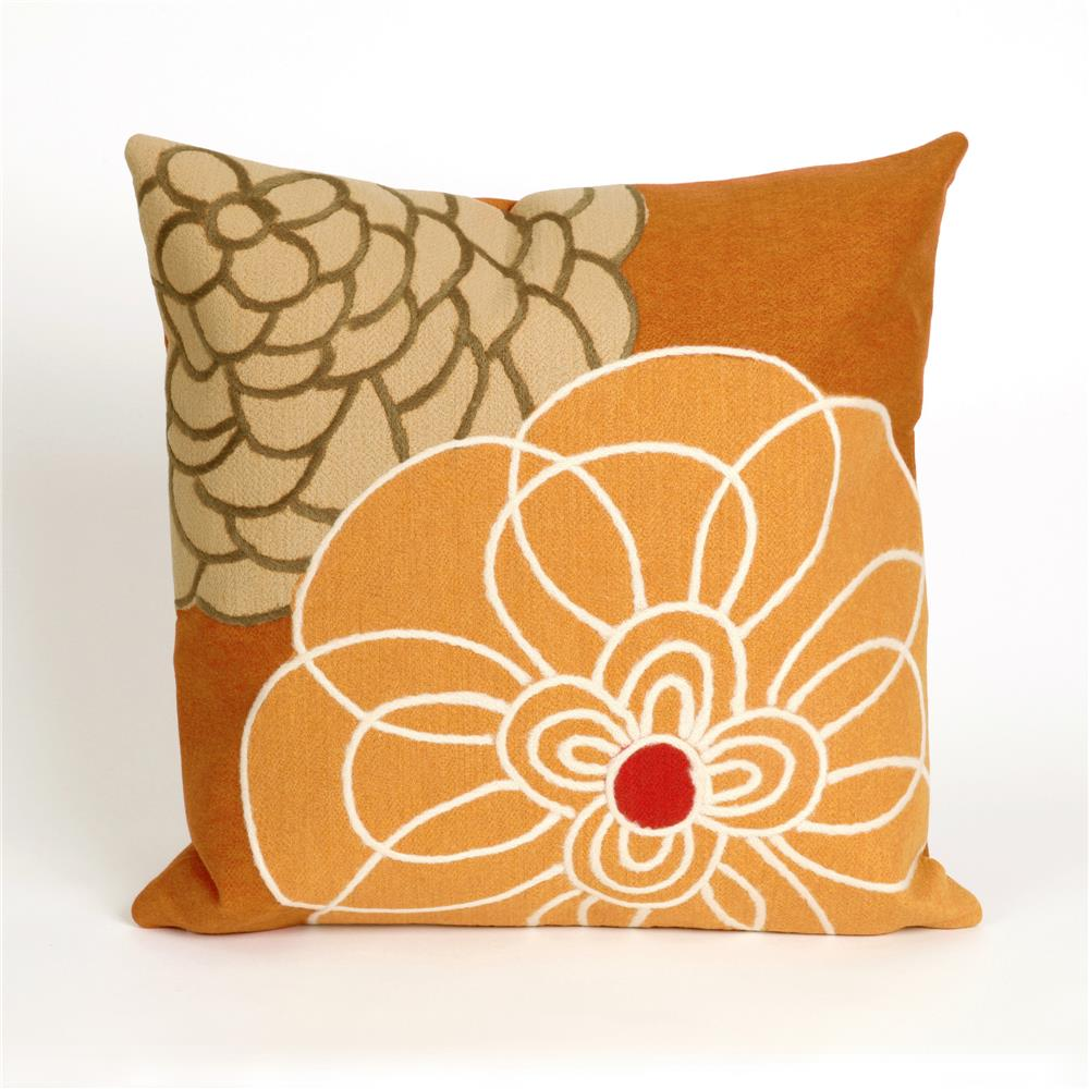 Liora Manne 7SC2S411897 VISIONS III DISCO ORANGE Pillow