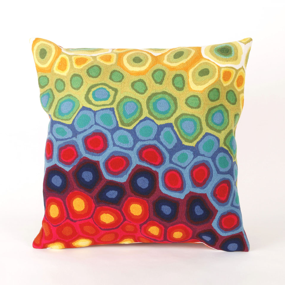 Liora Manne 7SC2S412744 VISIONS III POP SWIRL MULTI Pillow