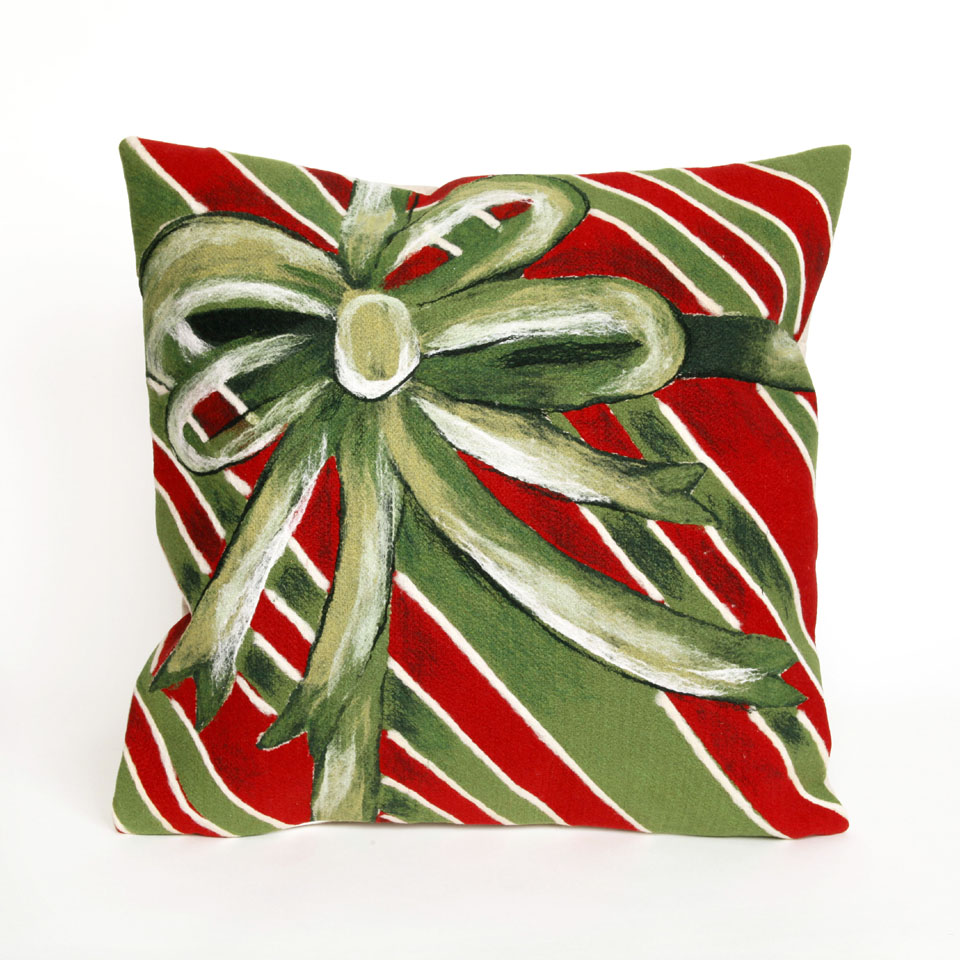 "Liora Manne 7SC2S420206 4202/06 Gift Box Green 20"" Square Pillow"