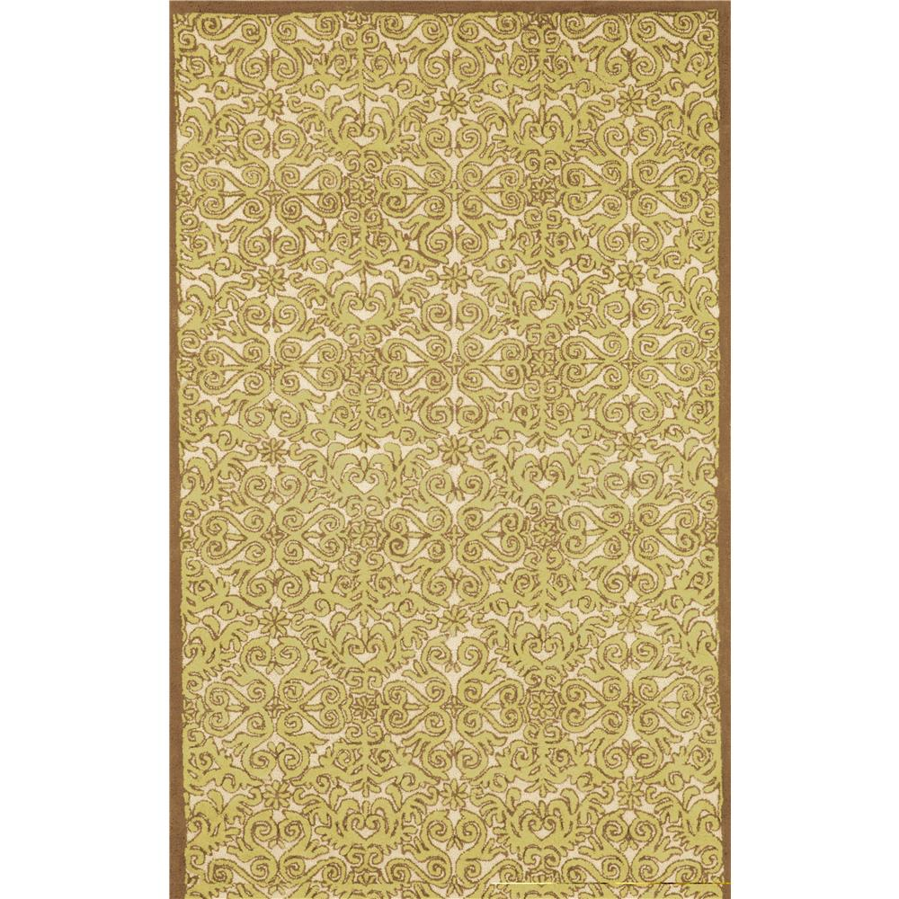 "Liora Manne ANG46851509 8515/09 Scroll Yellow - 42"" X 66"""
