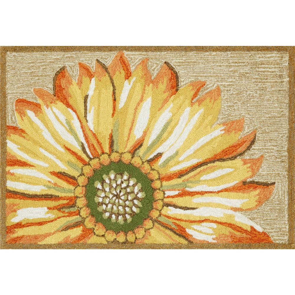 "Liora Manne 1417/09 SUNFLOWER YELLOW Hand Tufted Indoor/Outdoor Area Rug in 20""X30"""
