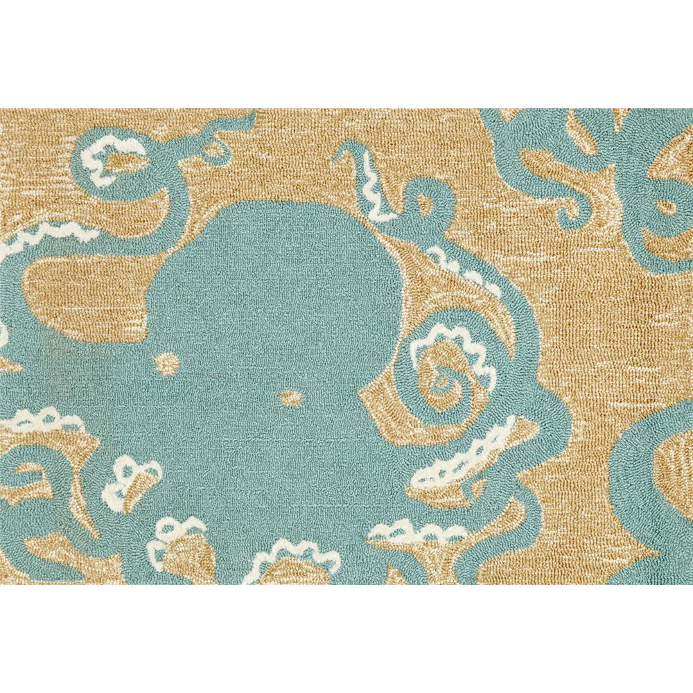 "Liora Manne 1432/04 OCTOPUS AQUA Hand Tufted Indoor/Outdoor Area Rug in 20""X30"""